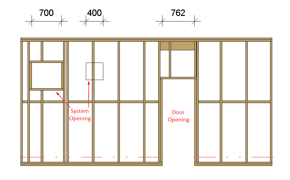 Framing door and window openings but not system opening in Revit