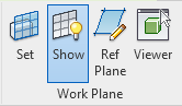 Command to show workplane in Revit