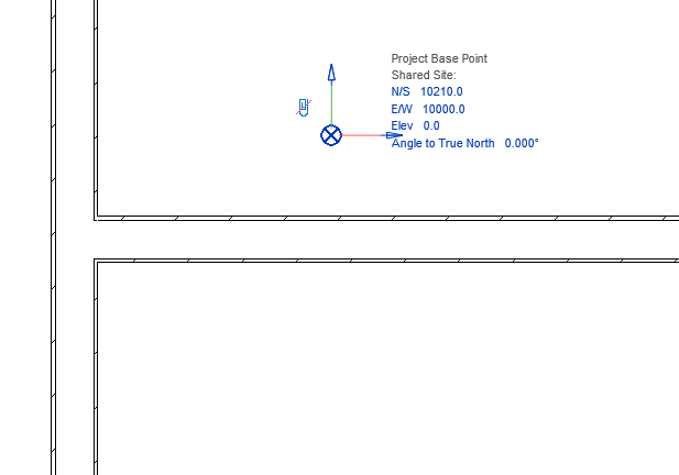 Unclip project base point in Revit