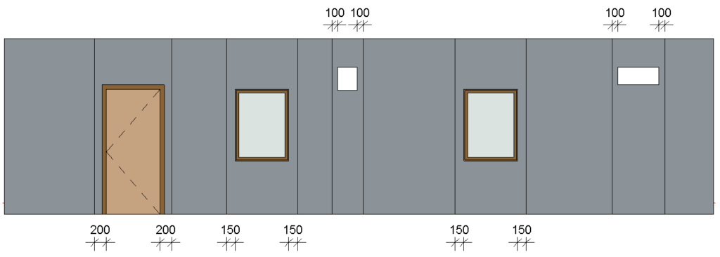 Specially configured wall paneling in Revit